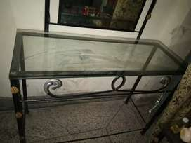 Metal bed, metal one side table,one dressing +spring mattress