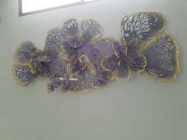 Wall Hanging.. Butterfly in Metal Purple Color