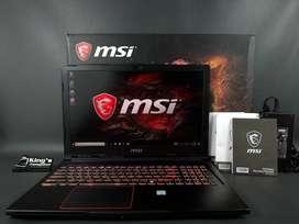 JUAL CEPAT - MSI GE63 i7 Gen 7 SSD 256GB Nvidia GTX 1060 6Gb Fullset
