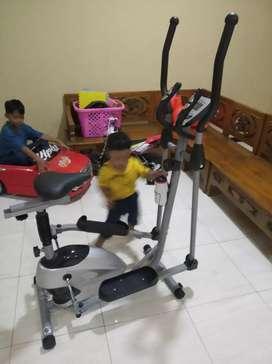 Sepeda Fitnes jogging Magnetik new Eliptical bike