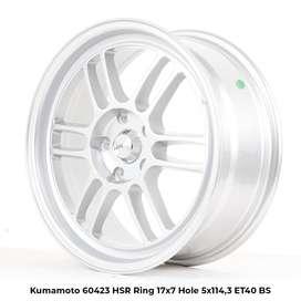 type KUMAMOTO 60423 HSR R17X7 H5X114,3 ET40 SILVER