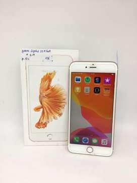 Ip.1512 // iPhone 6splus 32gb Rose Gold Ex resmi -- Rp 3.800.000