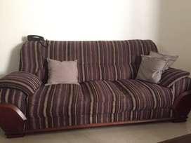 Facy purple sofa set with tepoy