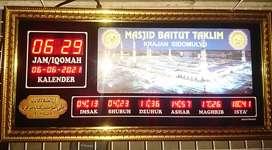 Jam Digital Masjid Minimalis