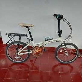 Sepeda Lipat Downtube Nova White