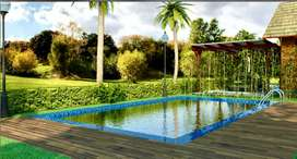 2 bhk bunglow with pool, mango trees, 10760 sft land at 35 lacs