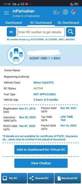 Hyundai Xcent 2016 Diesel 61000 Km Driven