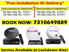 Tata Sky Or Airtel Digital Tv 1 Month Or 6 Month Pack Tatasky Dishtv!