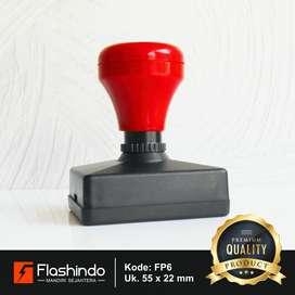 Flashindo Stempel Warna Persegi Panjang Ukuran 55 x 22mm Stempel Flash