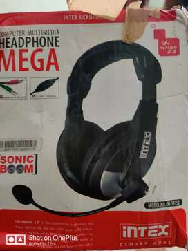 NEW Intex Mega Multimedia Headphones (Black)RS-350 & MODEM RS :-150.