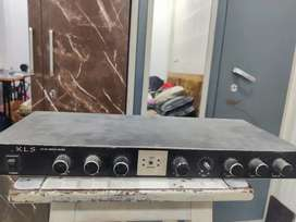 Amplifier and KLS Audio Mixer