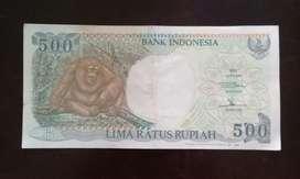 Uang Lama 500 Rupiah Gambar Orang Utan