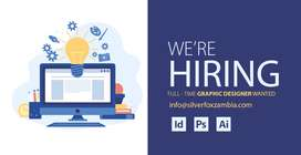 Wanted Graphic designer male/female