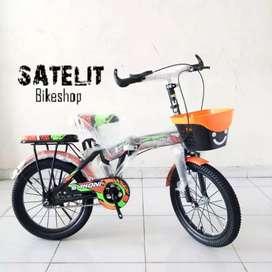 Sepeda Lipat Folding Bike Anak Sakoni Ukuran 16 Inch