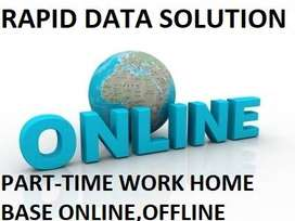 Simple DATA ENTRY work Part time HOME BASE job EARN 8500 to 20000/-