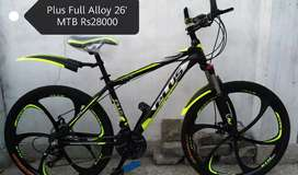 PLUS Brand New Mountain Bike in Just Rs 28000 only Alluminium Bicycle