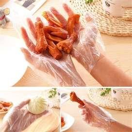 Sarung Tangan Plastik ( 1pack isi 100pc ) DISPOSABLE PLASTIC GLOVES
