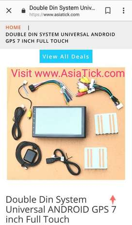 Double din touch screen android system for all cars