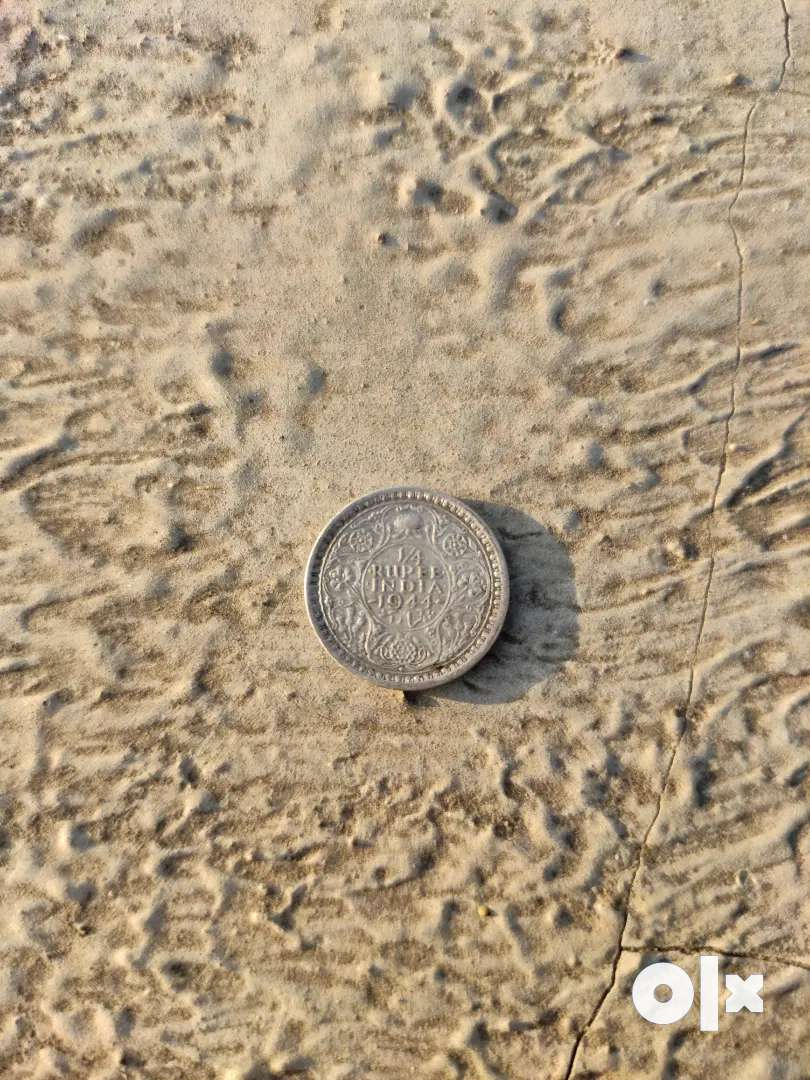 Coin 1944  1/4 rupees