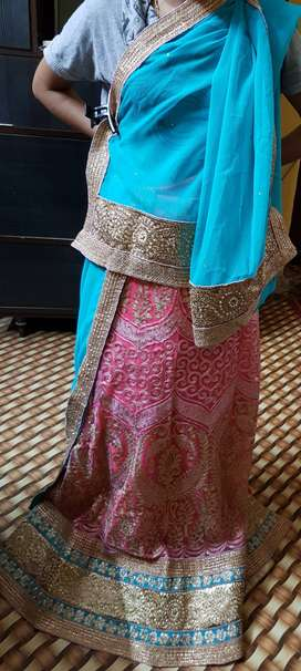 Unstiched and new Lehenga