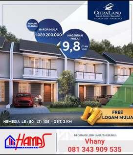 Perumahan Citraland Tallasa City Makassar, Cluster Nemesia Tipe 80/105