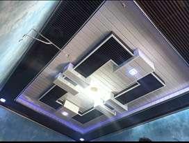 Plafon gypsum, plafon PVC, baja ringan, kanopi, partisi alumunium, dll