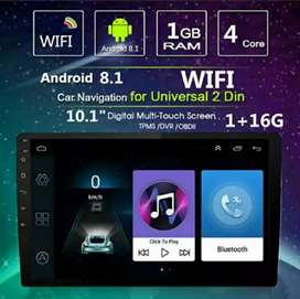 Double Din Android 9 Inch Guard Core Kamera Mundur Multimedia Player