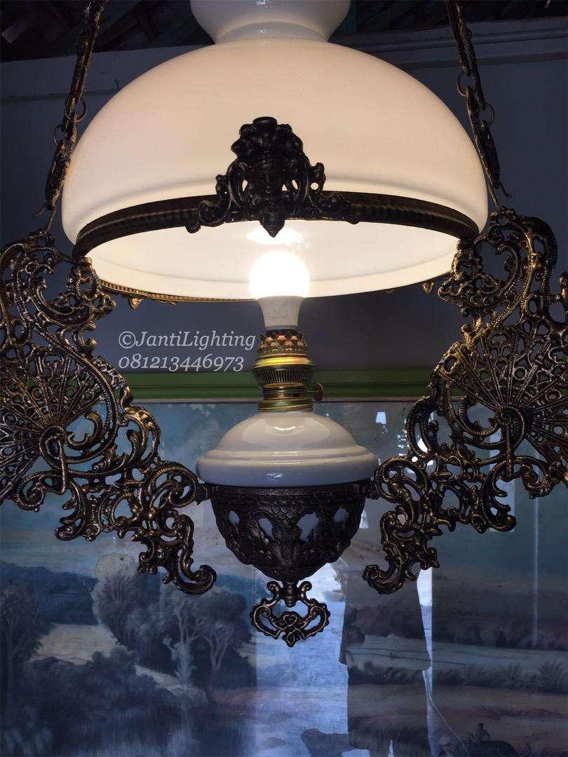 Lampu jawa lampu hias gantung antik katrol betawi lampu joglo lawasan 0