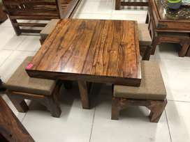Center cum coffee table with 4 stools