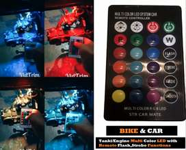 24 Colors Parking Bulbs Bike Car With Remote