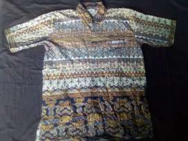 Batik variasi corak biru tua size M