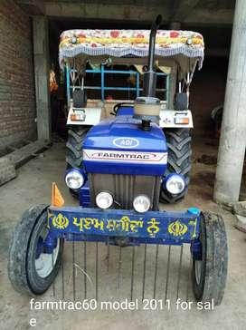 Farmtrac60 model 2011 for sale