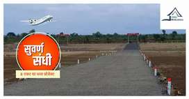 Developed farmhouse plots for sale near Purandar.Airport .