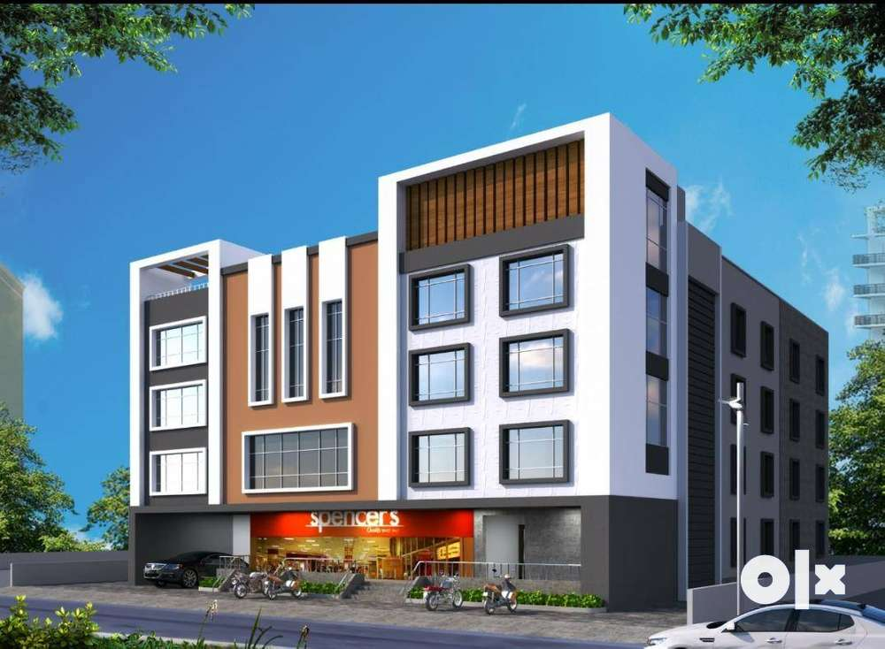 comercial complex 4 floors.shops for sale price 17 lakhs