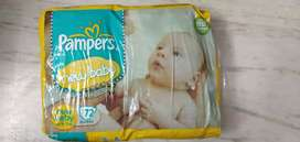 Pampers New born baby 72pants small size