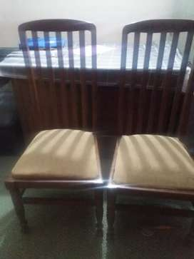 Dinning table with six chairs and small tables for sale