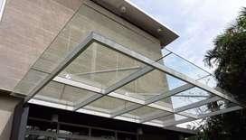 Kanopi atap kaca 1118