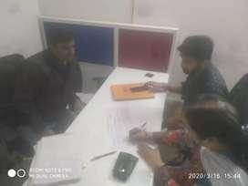 Female telecaller & office work
