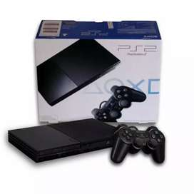 Ps2 sony slim seri 9 matrik +hardisk 60gb full games+2 Stik getar ps2