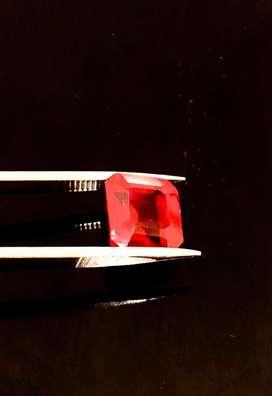 Natural Red Blood Ruby Mozambiq Plus Memo