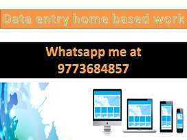 Simple DATA ENTRY work Part time HOME BASE job typing work