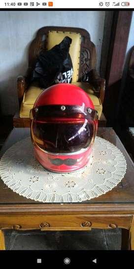 Helm gringgo merk trooper warna merah plus visor