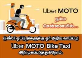uber moto biketaxi monthly earningsrs ,, 35000