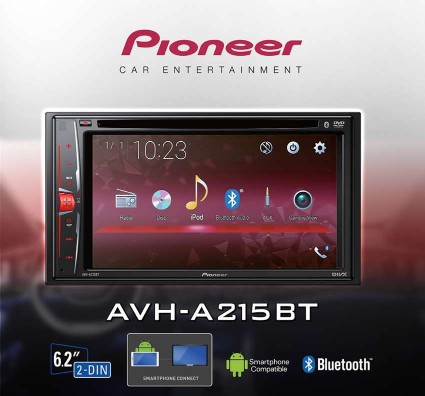 Pioneer AVH-A215BT Series Terbaru 2019 SUPPORT MIRROLINK ANDROID 0