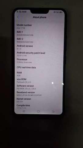Y 83 pro ram-4Gb internal -64Gb