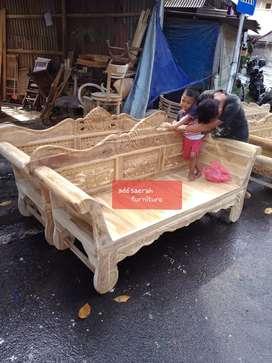 Sofa madura kerang ( full jati ) 200 x 60 ( stok ada )