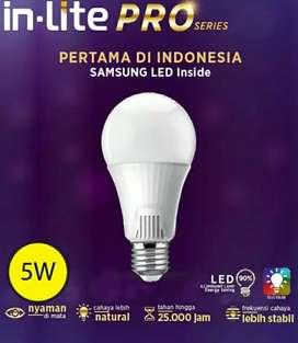 Lampu LED In-Lite Pro 5 Watt, Putih.