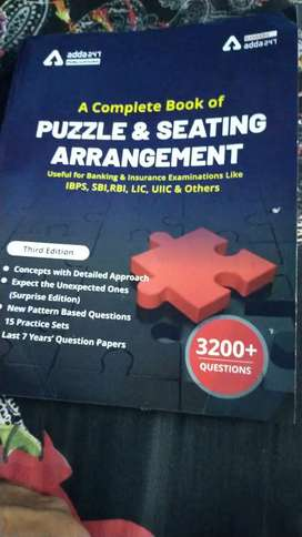 Reasoning Book Seating arrangement and puzzle.