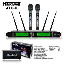Mic wireless HARDWELL JTS 8 + Hardcase Bisa Ganti Frequensi Jarak 100m