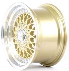 pelek hsrwheel model RS JD71 HSR buat jazz ring15 lubang 8 bisa credit